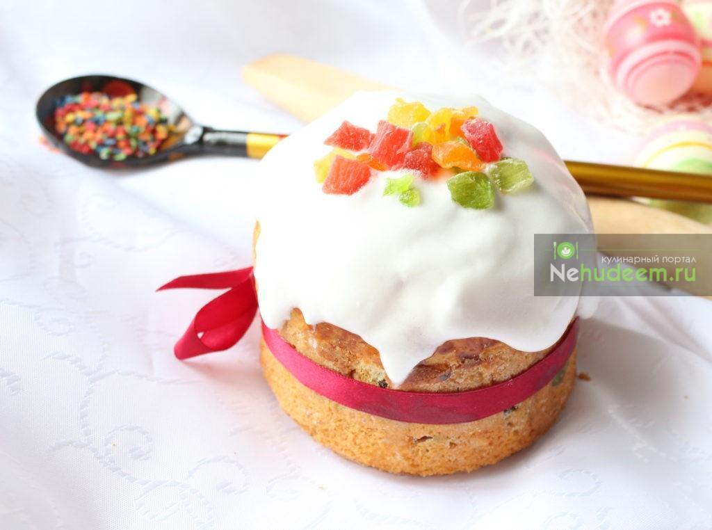Пасхальный кулич с цукатами и изюмом, Пошаговые рецепты с фото