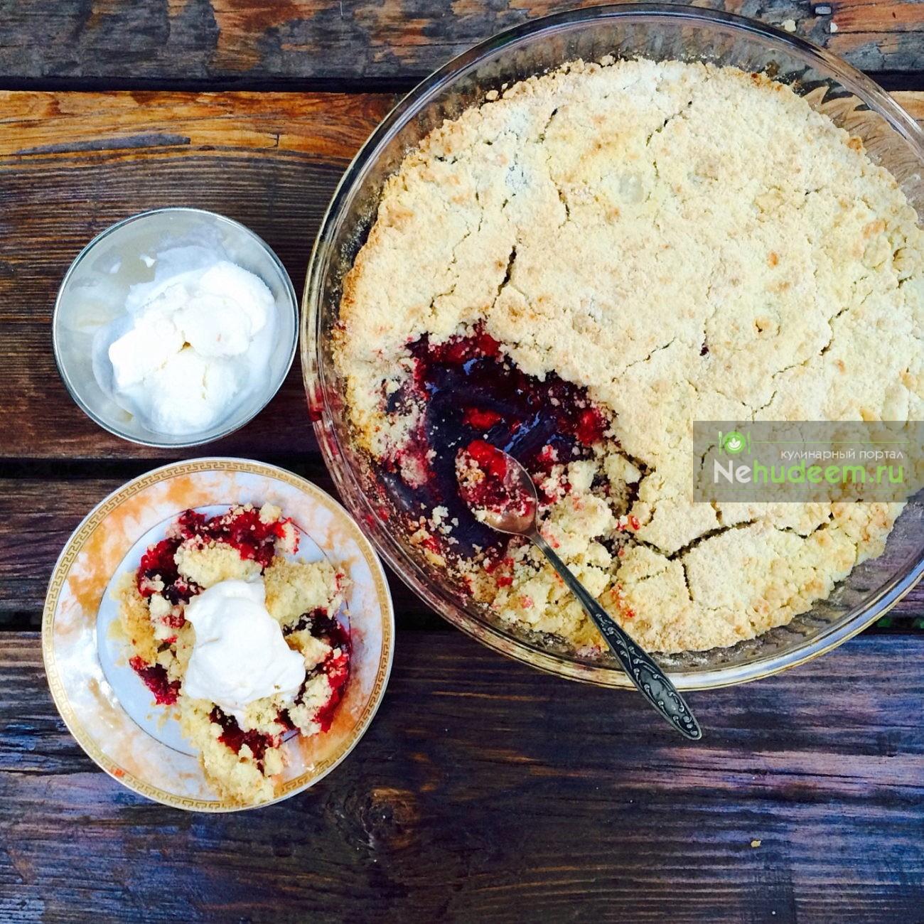 Крамбл с терном и миндальными лепестками - рецепт пошаговый с фото