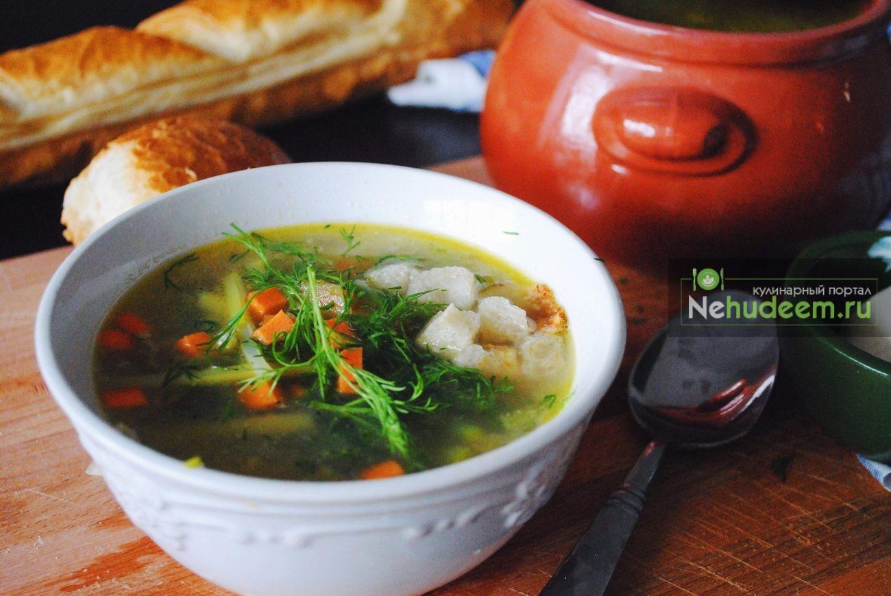 Лёгкий суп с черемшой