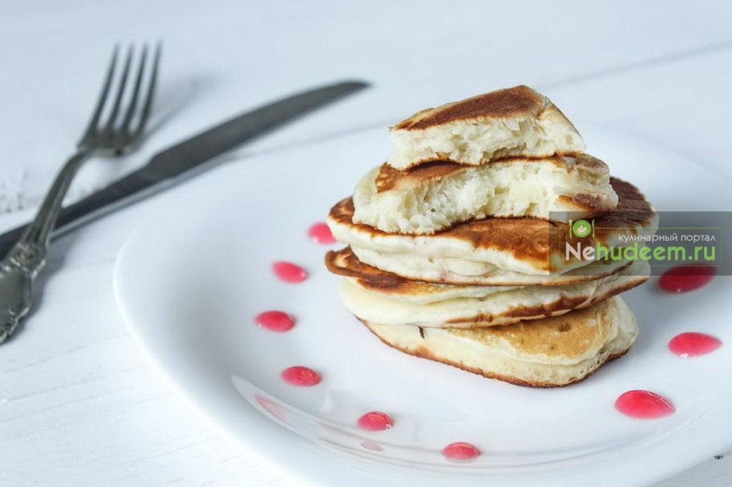 Панкейки на кефире - рецепт пошаговый с фото