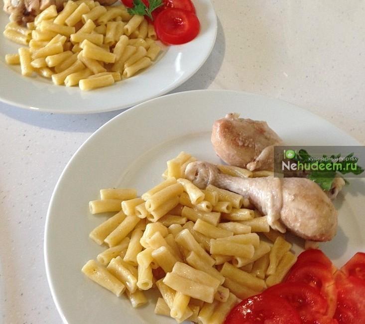 Курица с макаронами в мультиварке