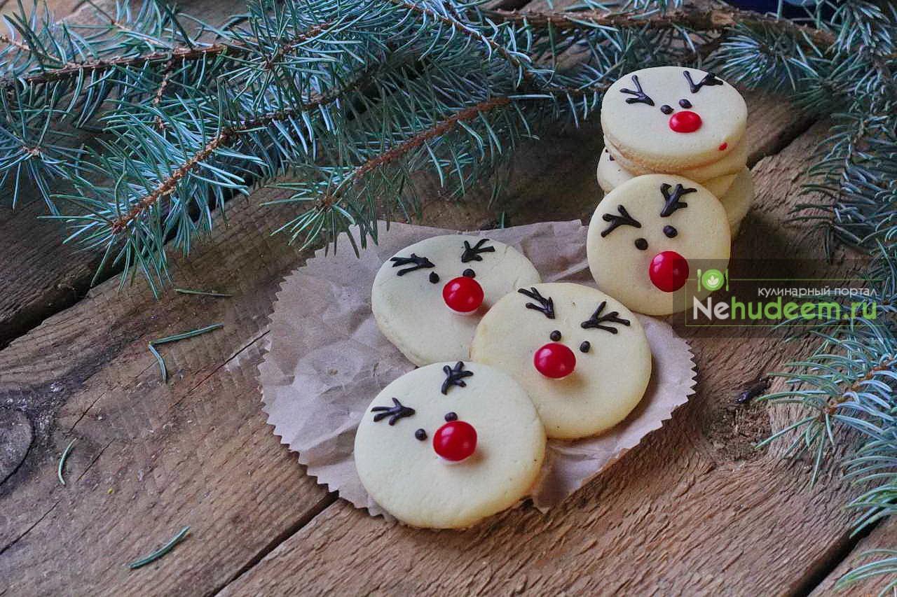 Новогоднее печенье Оленёнок