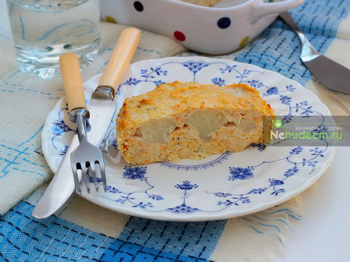 Куриное суфле с цветной капустой